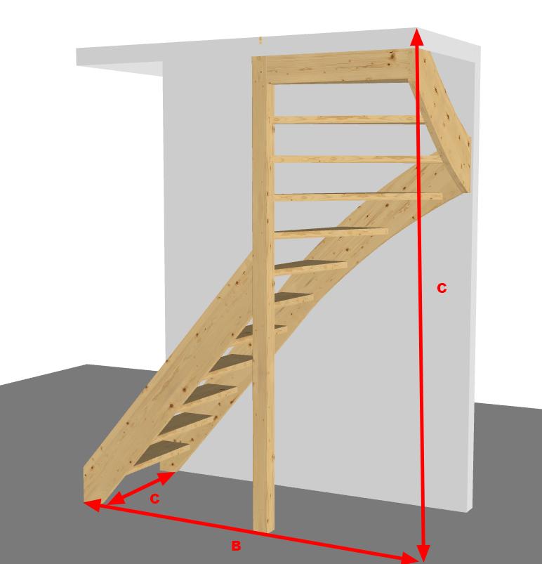 Trap met bovenkwart snelle trappenwinkel for Kwart trap