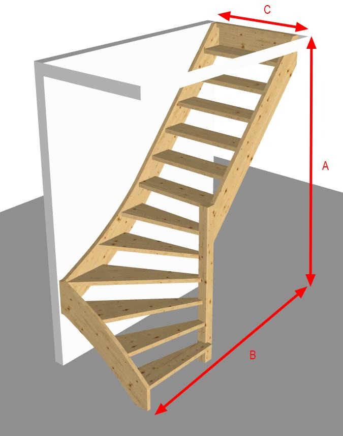 Trap met onderkwart snelle trappenwinkel for Trap onderkwart