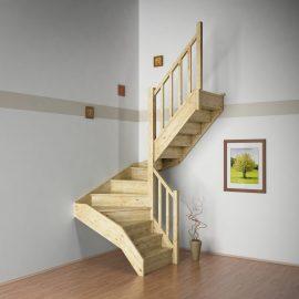 Halfslag trap bouwpakket