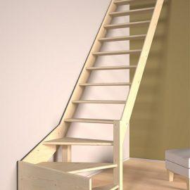 Trap met onderkwart bouwpakket